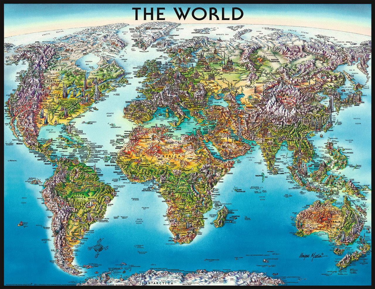 Ravensburger World Map Jigsaw Puzzle | SeriousPuzzles.com