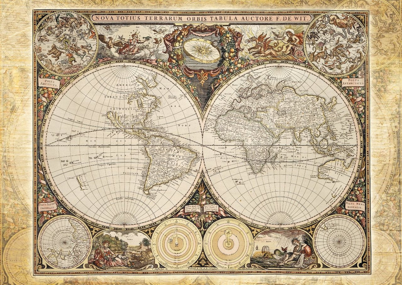 Historical World Map - 2000pc Jigsaw Puzzle by Schmidt
