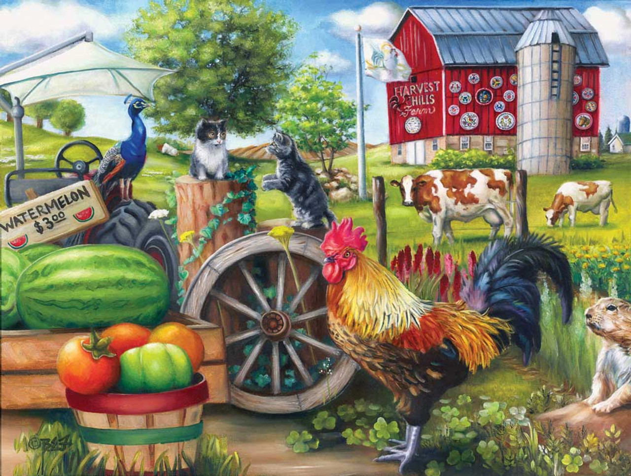 Farm Life - 500pc Jigsaw Puzzle by Sunsout