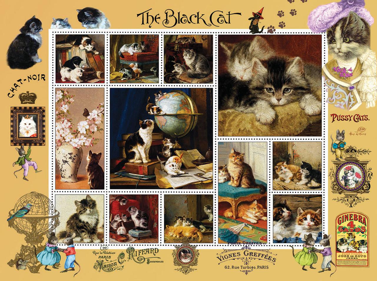 1000 piece jigsaw puzzle un saut dans le noir chat