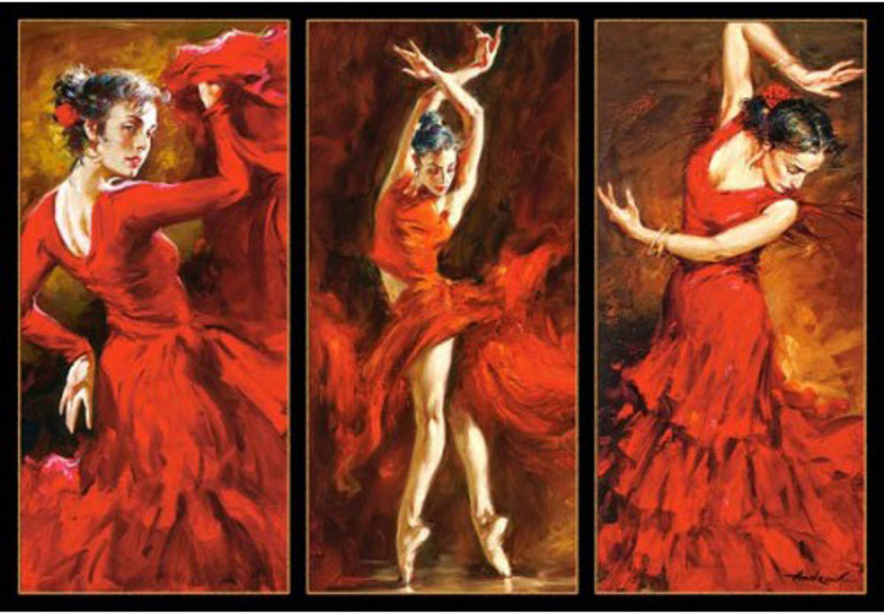 Crimson Dancers 1000pc Jigsaw Puzzle By Castorland (discon)