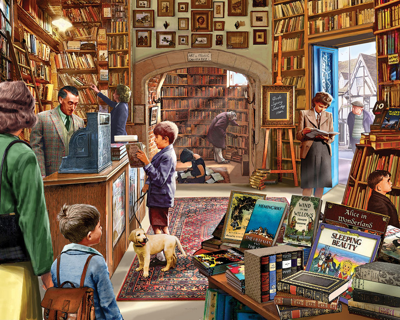 f41d3fdcb705 Cozy Book Shop - 300pc EZ Grip Jigsaw Puzzle by White Mountain ...