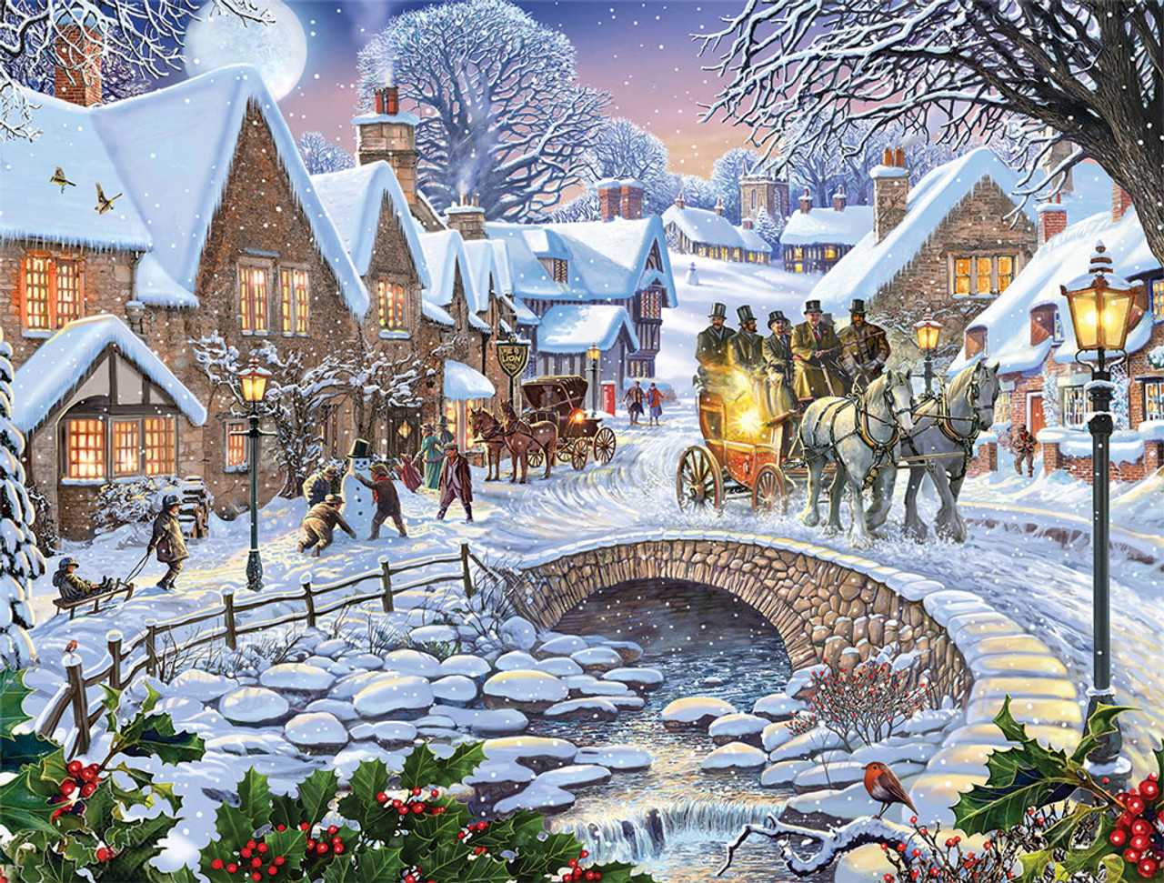 Winter Village 1000pc Jigsaw Puzzle By White Mountain