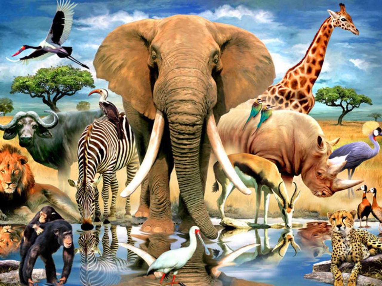 Harmony African Oasis 550pc Jigsaw Puzzle By Ceaco