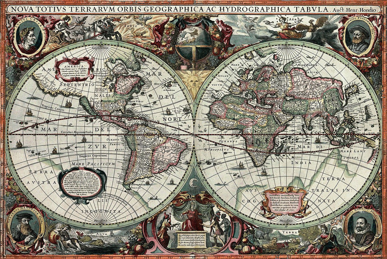 Historical Old World Map - 1000pc Jigsaw Puzzle by Tomax ...