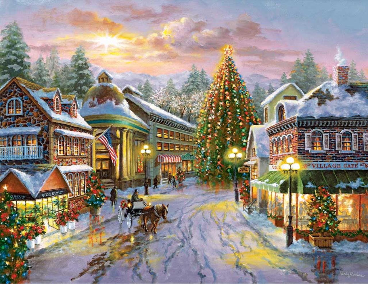 Christmas Jigsaw Puzzles.Christmas Eve 500pc Springbok Jigsaw Puzzle