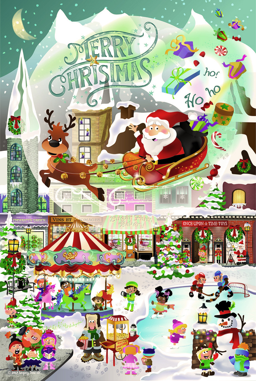 Christmas For All Ages.A Christmas Village For All Ages 625pc Family Jigsaw Puzzle By Sunsout