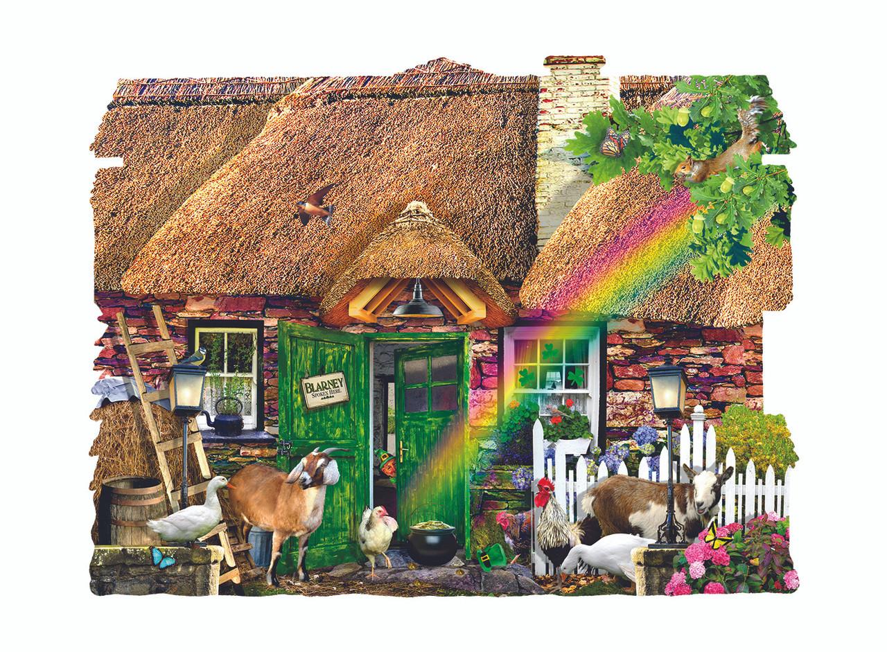 Interactive Jigsaw Map Of Ireland.Irish Cottage 1000pc Shaped Jigsaw Puzzle By Sunsout