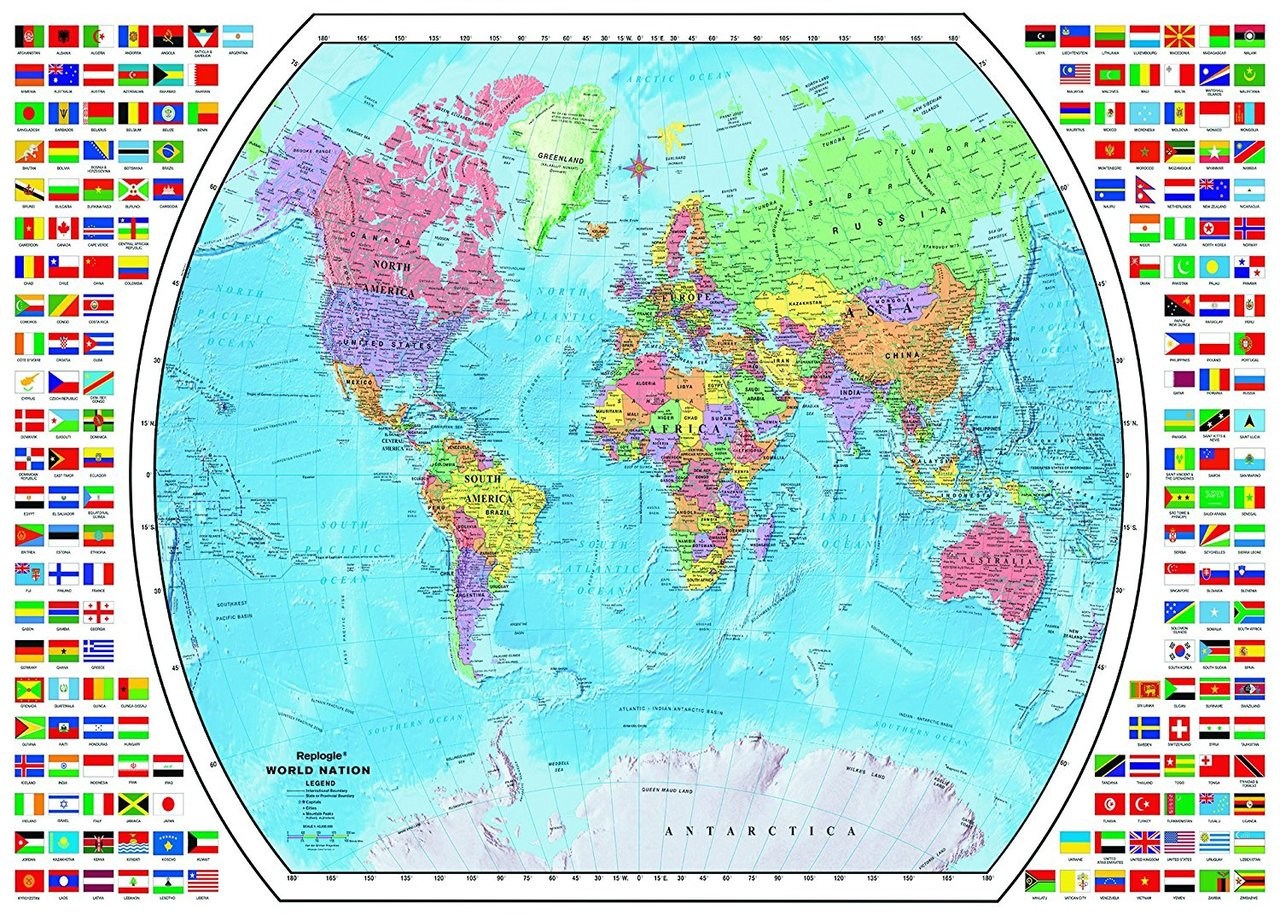 Political World Map - 1000pc Jigsaw Puzzle by Ravensburger ...