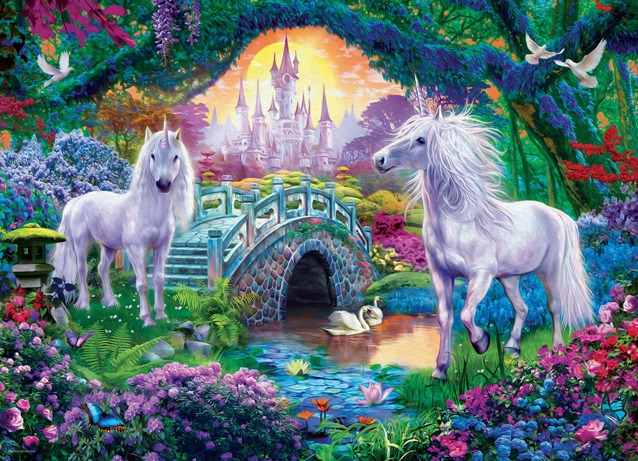 Unicorns in Fairy Land - 500pc Jigsaw Puzzle by ...