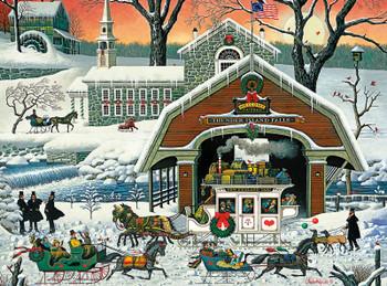 Country Christmas Buffalo Games 1000 Piece Jigsaw Puzzle Darrell Bush