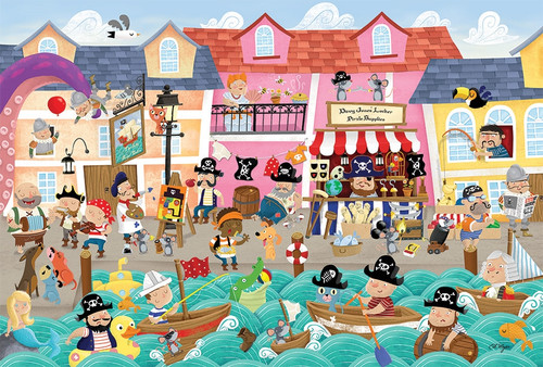 Pirates on Vacation - 36pc Floor Puzzle by Cobble Hill