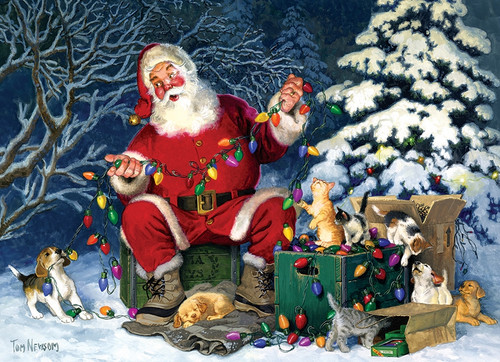 Santa's Little Helper - 500pc Jigsaw Puzzle By Cobble Hill