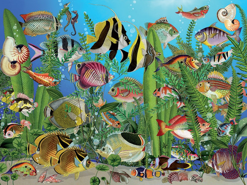 Aquarium - 275pc Easy Handling Puzzle by Cobble Hill