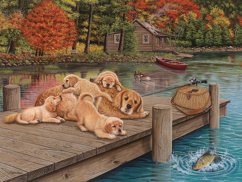 Lazy Day on the Dock - 275pc Easy Handling Puzzle by Cobble Hill