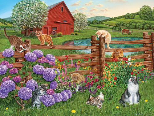 Farm Cats - 275pc Easy Handling Puzzle by Cobble Hill