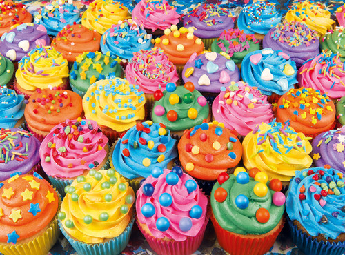 Colorful Cupcakes 500pc Jigsaw Puzzle by Clementoni