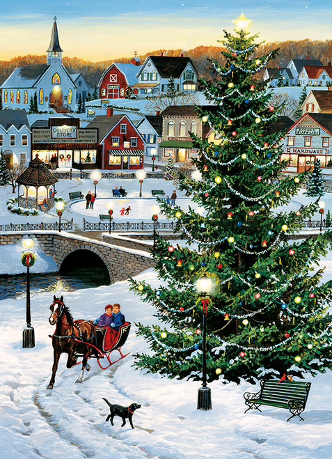 Village Tree - 1000pc Jigsaw Puzzle by Jack Pine