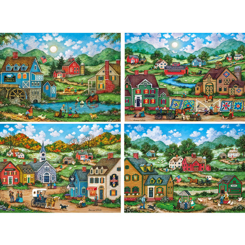 Simple Living - 4 x 500pc Jigsaw Puzzle Assortment by Masterpieces
