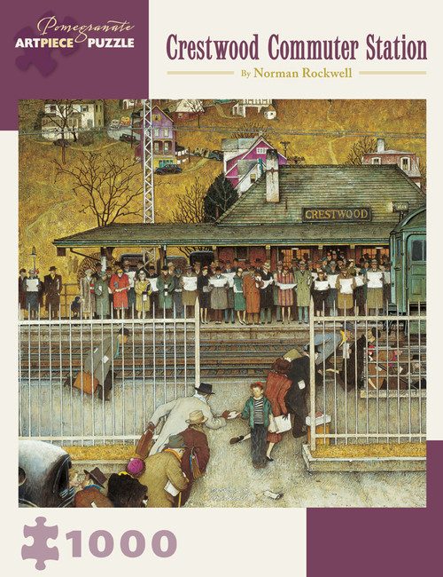 Rockwell: Crestwood Commuter Station - 1000pc Jigsaw Puzzle by Pomegranate