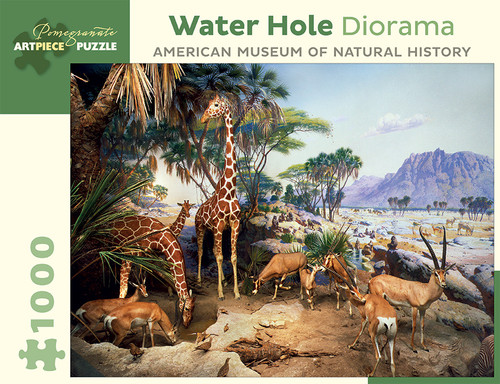 Water Hole Diorama - 1000pc Jigsaw Puzzle by Pomegranate