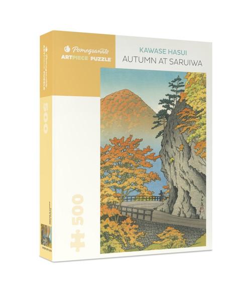 Hasui: Autumn at Saruiwa - 500pc Jigsaw Puzzle by Pomegranate
