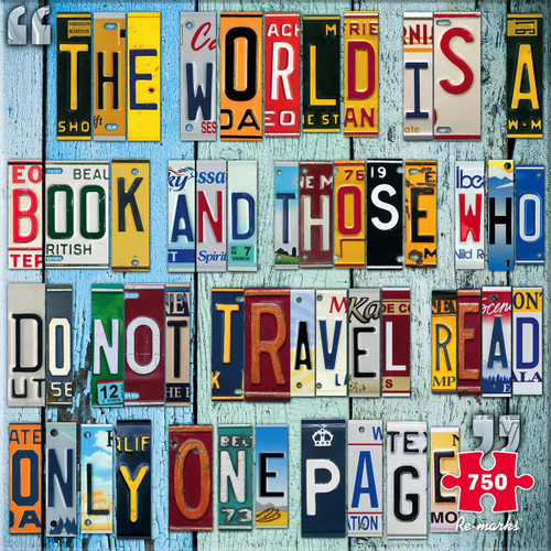 License Plate - 750pc Jigsaw Puzzle By Re-marks