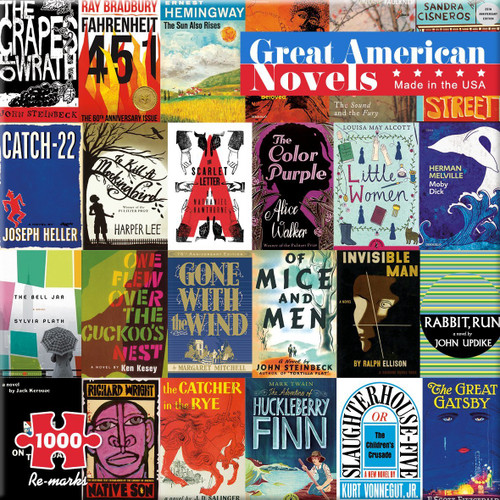 Great American Novels - 1000pc Jigsaw Puzzle By Re-marks