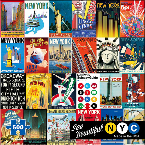 New York - 500pc Jigsaw Puzzle By Re-marks