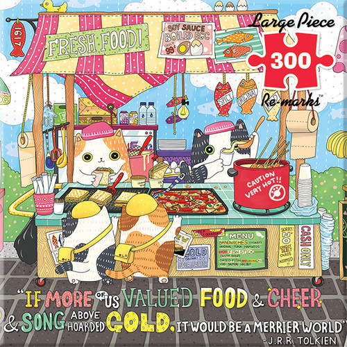 Street Food - 300pc Large Format Jigsaw Puzzle By Re-marks