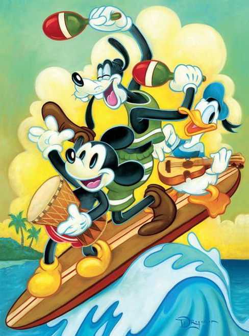 Disney: Surf Trio - 1000pc Jigsaw Puzzle by Ceaco
