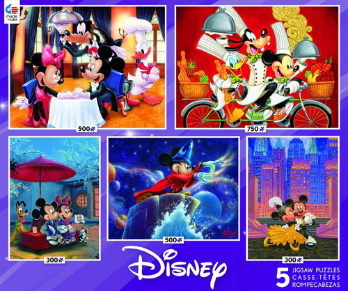 Disney: Mickey and Friends - 5 in 1 (2 x 300pc, 500pc, 750pc) Multipack by Ceaco