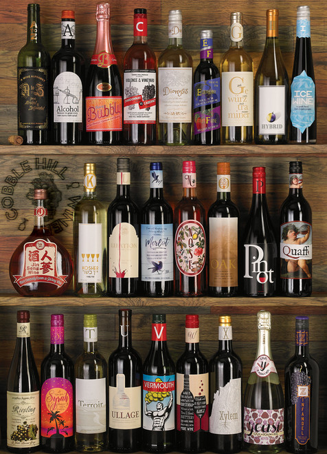 Wine Alphabet - 1000pc Jigsaw Puzzle by Cobble Hill