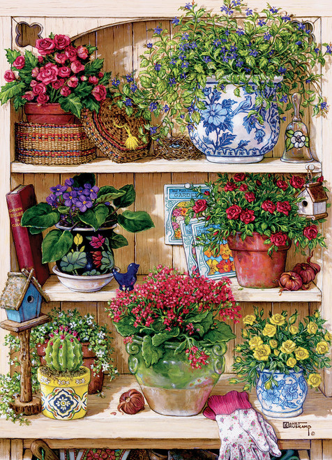 Flower Cupboard - 500pc Jigsaw Puzzle By Cobble Hill