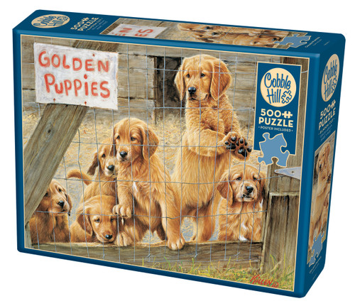 Golden Puppies - 500pc Jigsaw Puzzle By Cobble Hill