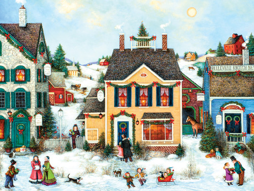 Christmas Town - 275pc Easy Handling Puzzle by Cobble Hill