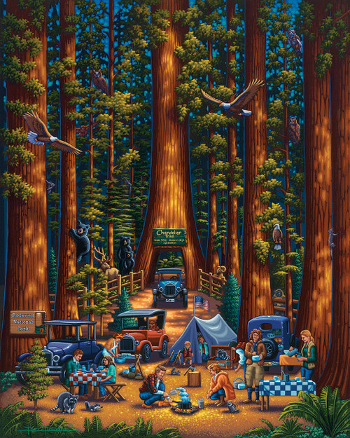 Redwood National Park - 500pc Jigsaw Puzzle by Dowdle