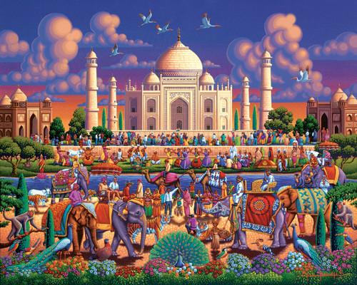 Taj Mahal - 500pc Jigsaw Puzzle by Dowdle
