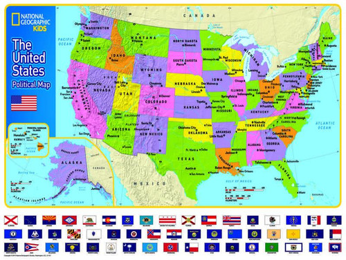 The USA Kids Map - 300pc Jigsaw Puzzle by New York Puzzle Company
