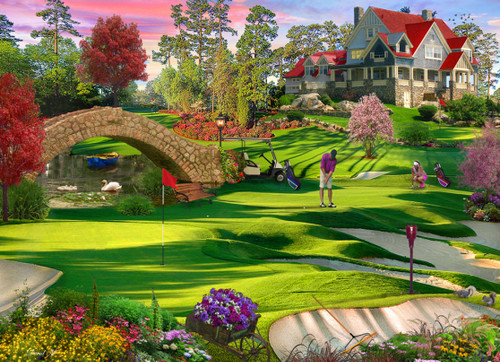 Golfer's Paradise - 1000pc Jigsaw Puzzle by Vermont Christmas Company