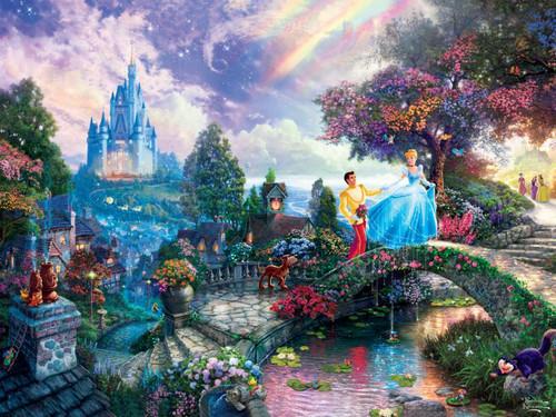 Ceaco Thomas Kinkade Cinderella Wishes Upon a Dream Jigsaw Puzzle