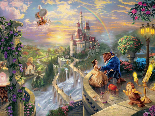 Ceaco Thomas Kinkade Beauty and the Beast Falling in Love Jigsaw Puzzle