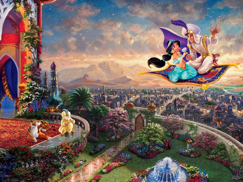 Ceaco Thomas Kinkade Aladdin Jigsaw Puzzle