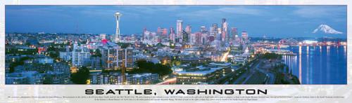Seattle, Washington - 750pc Panoramic Jigsaw Puzzle by Buffalo Games (discon)