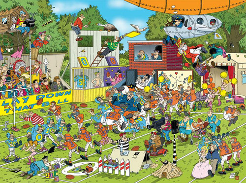 Crowd Pleasers: Chaos on the Field - 1000pc Jigsaw Puzzle by Ceaco