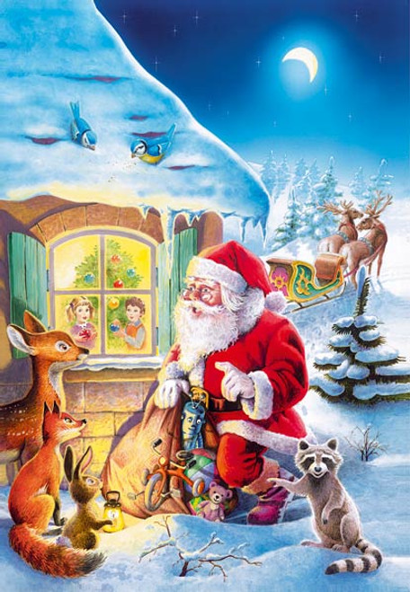 Santa Claus is Coming - 500pc Jigsaw Puzzle by Castorland (discon)