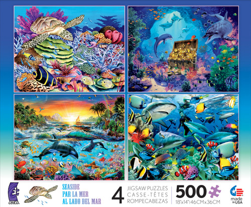 Seaside: 4 in 1 Multi-Pack - 500pc Jigsaw Puzzle by Ceaco