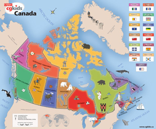Kids Map of Canada(discon) - 300pc Jigsaw Puzzle by Cobble Hill (discon)