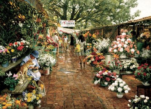 Cobble Hill Jigsaw Puzzles - Flower Market