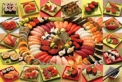 Plenty of Sushi - 2000pc Jigsaw Puzzle by Cobble Hill